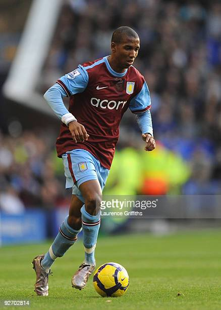 Ashley Young of Aston Villa during the Barclays Premier League match between Everton and Aston Villa at Goodison Park on October 31 2009 in Liverpool...
