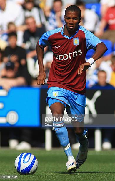 Ashley Young of Aston Villa in action during the pre-season friendly match between Reading and Aston Villa at the Madejski Stadium on August 2, 2008...