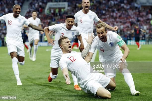 Ashley Young of England Jesse Lingard of England Kieran Trippier of England Jordan Henderson of England Harry Kane of England during the 2018 FIFA...