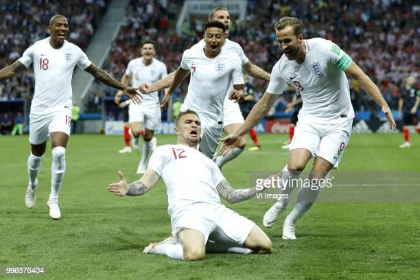 Ashley Young of England Jesse Lingard of England Kieran Trippier of England Jordan Henderson of England Harry Kane of England during the 2018 FIFA...