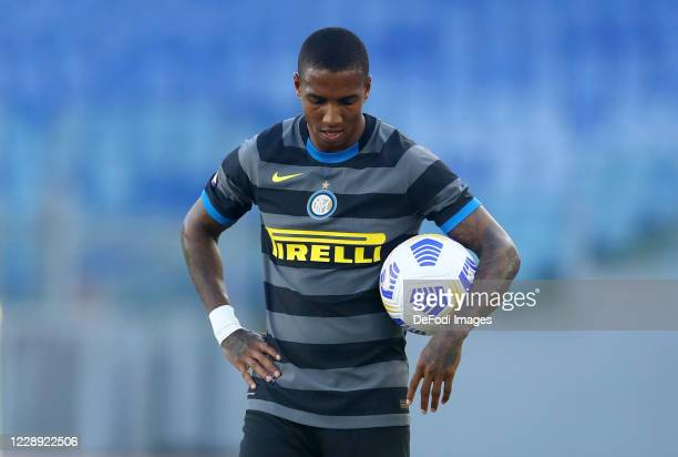 Ashley Young of FC Internazionale looks dejected during the Serie A match between SS Lazio and FC Internazionale at Stadio Olimpico on October 4,...