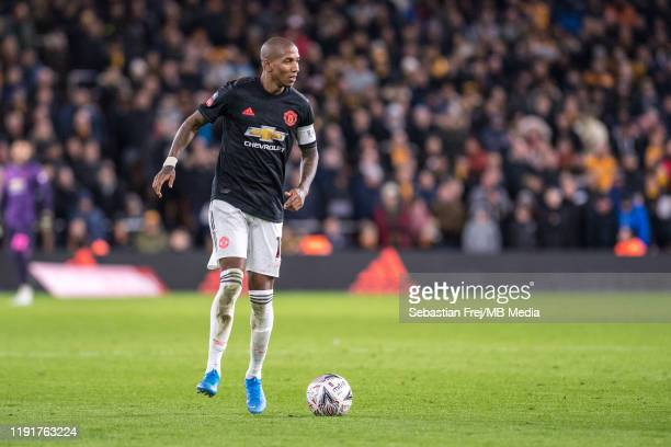 Ashley Young of Manchester United during the FA Cup Third Round match between Wolverhampton Wanderers and Manchester United at Molineux on January 4,...