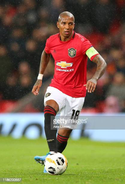 Ashley Young of Manchester United during the UEFA Europa League group L match between Manchester United and Partizan at Old Trafford on November 07,...