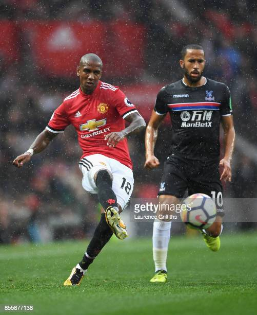 Ashley Young of Manchester United in action during the Premier League match between Manchester United and Crystal Palace at Old Trafford on September...
