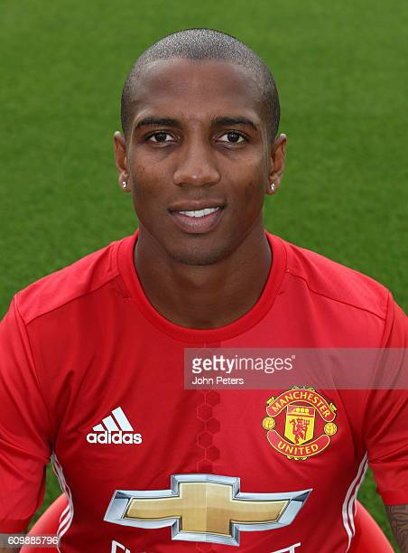 Ashley Young of Manchester United poses for a portrait at the Manchester United Official Photocall on September 19 2016 in Manchester England