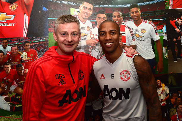 GBR: Ashley Young Signs a New Contract at Manchester United