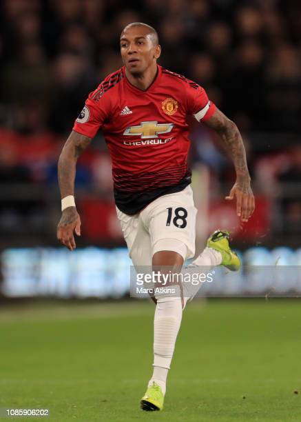 Ashley Young of Manchester Unitedduring the Premier League match between Cardiff City and Manchester United at Cardiff City Stadium on December 22...