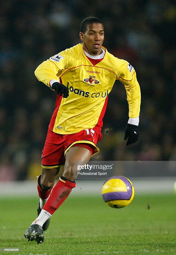 Ashley Young of Watford in action during the Barclays Premiership match between Watford and Arsenal at Vicarage Road on December 26, 2006 in Watford, England.