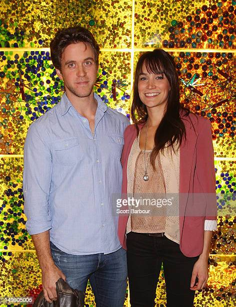 Ashley Zukerman and Nicole Da Silva pose at the 2012 Helpmann Awards Nominations Announcement at Melbourne Arts Centre on August 6 2012 in Melbourne...
