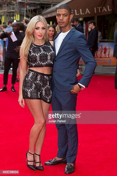 AshleyEmma Havelin and Fazer attends the World Premiere of The Inbetweeners 2 at Vue West End on August 5 2014 in London England