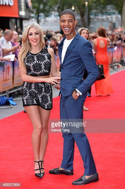 AshleyEmma Havelin and Richard Rawson attend the World Premiere of The Inbetweeners 2 at Vue West End on August 5 2014 in London England