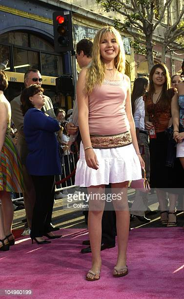 Ashlie Brillault during The Lizzie McGuire Movie Premiere at The El Capitan Theater in Hollywood California United States