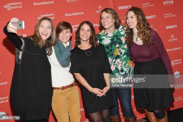 Ashly Covington Jennifer Gittings Soraya Selene Ashly Covington and Katie Hackett attend the Half The Picture Premiere during the 2018 Sundance Film...