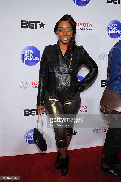 Ashly Williams attends the BET Music Matters Showcase at Creative Artists Agency on January 24, 2014 in Los Angeles, California.