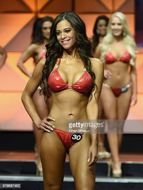Ashlyn Blades of Greenwood Indiana competes in the 20th annual Hooters International Swimsuit Pageant at The Pearl concert theater at Palms Casino...