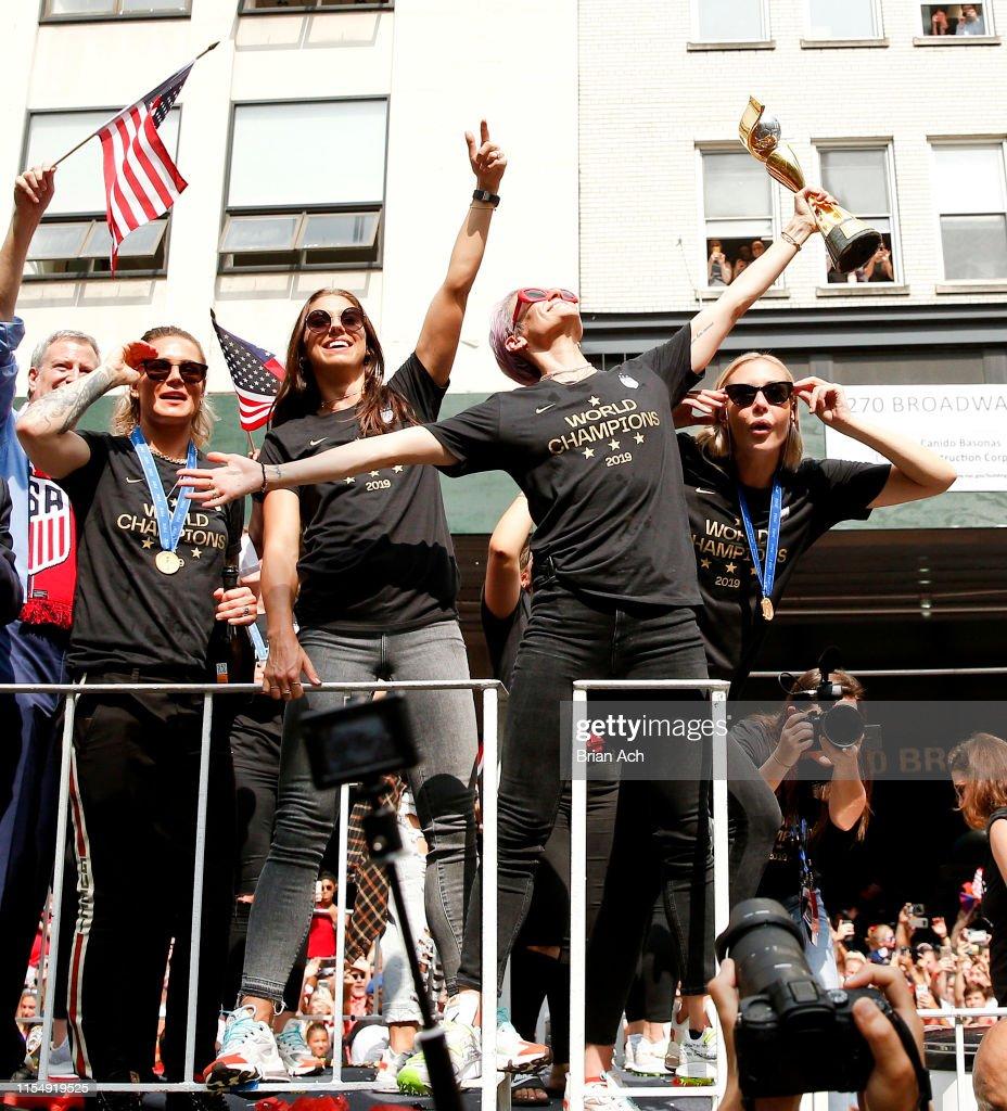 U.S. Women's National Soccer Team Victory Parade : News Photo