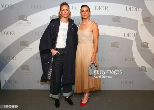 Ashlyn Harris and Ali Krieger attend 2019 Guggenheim International Gala PreParty at Solomon R Guggenheim Museum on November 13 2019 in New York City
