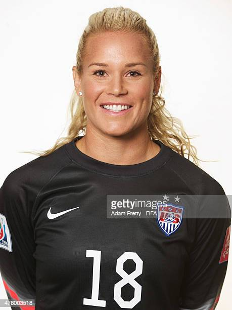 Ashlyn Harris of the USA poses for a portrait at the Delta Hotel on June 5 2015 in Winnipeg Canada