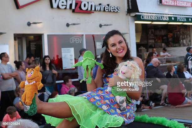 """Ashlyn Laveson, Miss Gloucester County participates in the """"Television Comes Alive On The Boardwalk"""" at the 2017 Miss New Jersey Pageant parade on..."""
