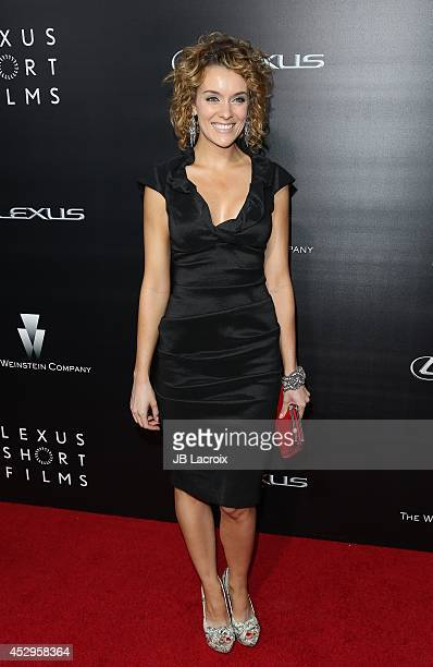 Ashlynn Yennie attends the Lexus Shorts Films presented by The Weinstein Company and Lexus at the Regal Cinemas at LA Live on July 30 2014 in Los...
