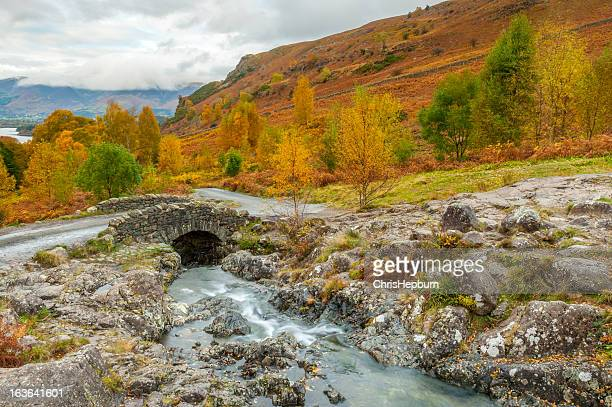 ashness bridge, lake district national park - keswick stock photos and pictures