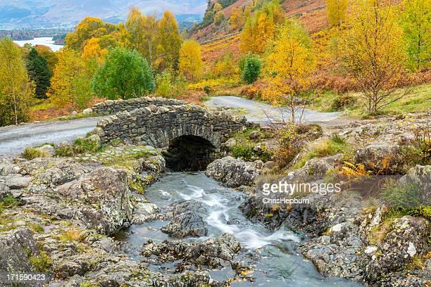 ashness bridge, lake district national park - northwest england stock pictures, royalty-free photos & images