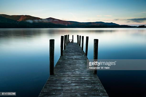 ashness jetty - english lake district stock pictures, royalty-free photos & images