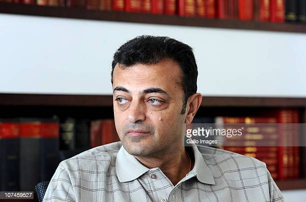 Ashok Hindocha the uncle of murdered British tourist Anni Dewani speaks to South African newspaper Die Burger at their offices on December 9 2010 in...