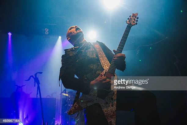Ashok of Cradle Of Filth performs on stage at KOKO on October 23 2015 in London England