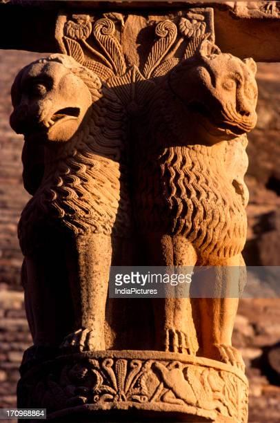 Ashoka Pillar Sanchi Madhya Pradesh India