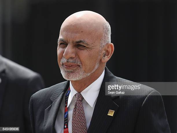 Ashraf Ghani, President of Afghanistan, arrives for the Warsaw NATO Summit on July 8, 2016 in Warsaw, Poland. NATO member heads of state, foreign...