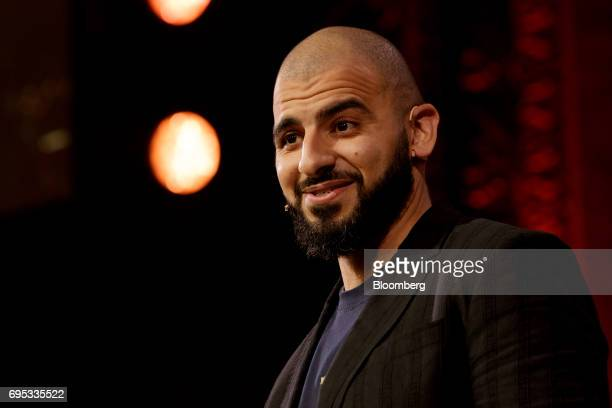 Ashraf Ismail game director of UbiSoft Entertainment SA speaks while announcing the Assassins Creed Origins video game during the company's event...