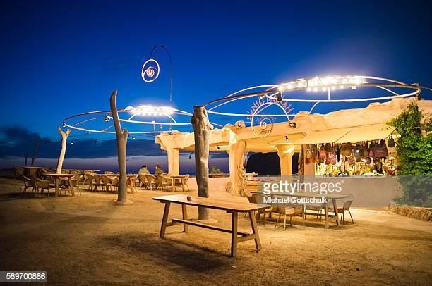 Ashram Sunset Club at cala comte beach on Ibiza island on May 12 2016 in Sant Josep de sa Talaia Spain