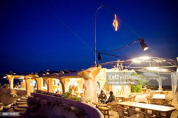 Ashram Sunset Club at cala comte beach on Ibiza island on May 23 2016 in Sant Josep de sa Talaia Spain