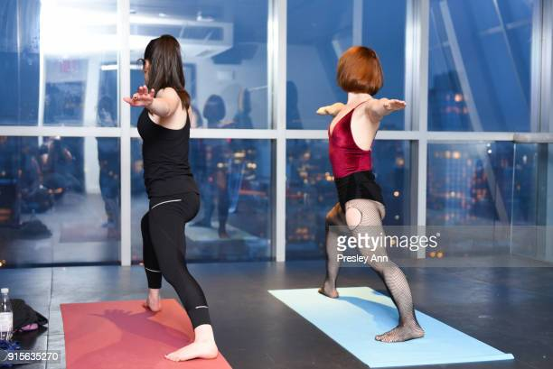 Ashram Yoga at the Leesa Rowland's Animal Ashram PopUp Penthouse on February 7 2018 in New York City