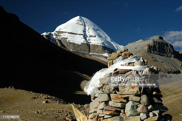 ashtapad and mt. kailash - mt kailash stock pictures, royalty-free photos & images