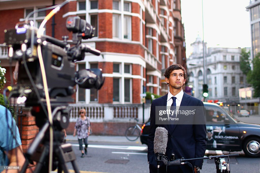 Ashton Agar of Australia is interviewd after the Australian Cricket Team visit to the Australian High Commision on July 16, 2013 in London, England.