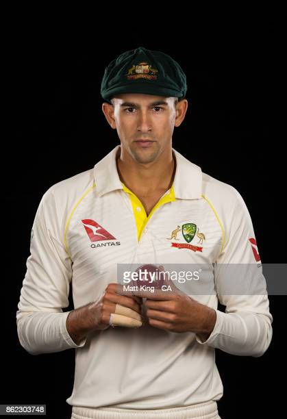 Ashton Agar of Australia poses during the Australia Test cricket team portrait session at Intercontinental Double Bay on October 15 2017 in Sydney...