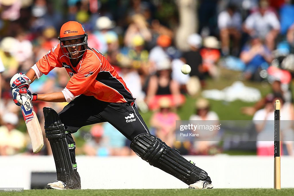Ashton Agar of the Scorchers bats during the WA Festival of Cricket Legends Match between the Australian Legends XI and Perth Scorchers at Aquinas College on December 11, 2015 in Perth, Australia.