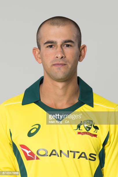 Ashton Agar poses during the Australia One Day International Team Headshots Session at Intercontinental Double Bay on October 15 2017 in Sydney...