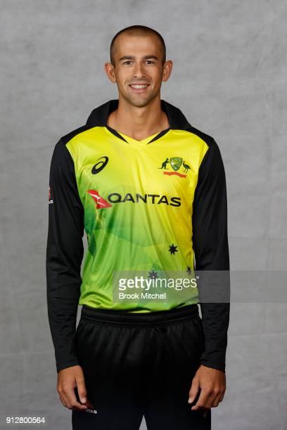 Ashton Agar poses during the Australian International Twenty20 headshots session at Sydney Cricket Ground on February 1 2018 in Sydney Australia