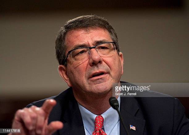 Ashton B Carter undersecretary of Defense for acquisition technology and logistics during the Senate Armed Services hearing on the defense...