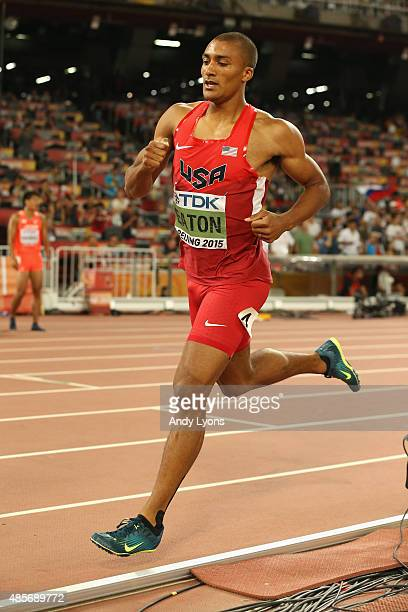 Ashton Eaton of the United States competes in the Men's Decathlon 1500 metres during day eight of the 15th IAAF World Athletics Championships Beijing...