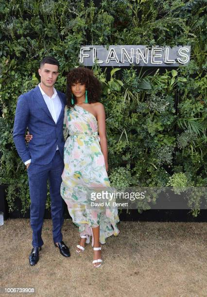 Ashton Gohil and Cheyenne Maya Carty attend the Westchester Cup Polo at the Flannels marquee the Royal County of Berkshire Polo Club on July 28 2018...