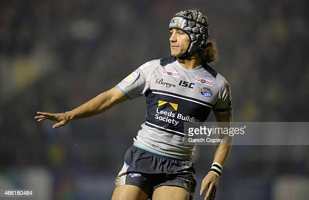 Ashton Golding of Leeds Rhinos in action during the First Utility Super League match between Warrington Wolves and Leeds Rhinos at The Halliwell...