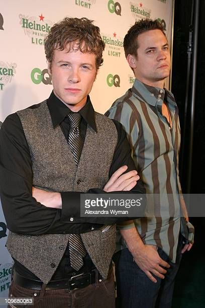 Ashton Holmes and Shane West during GQ Magazine Celebrates Heineken Premium Light at Les Deux in Los Angeles California United States