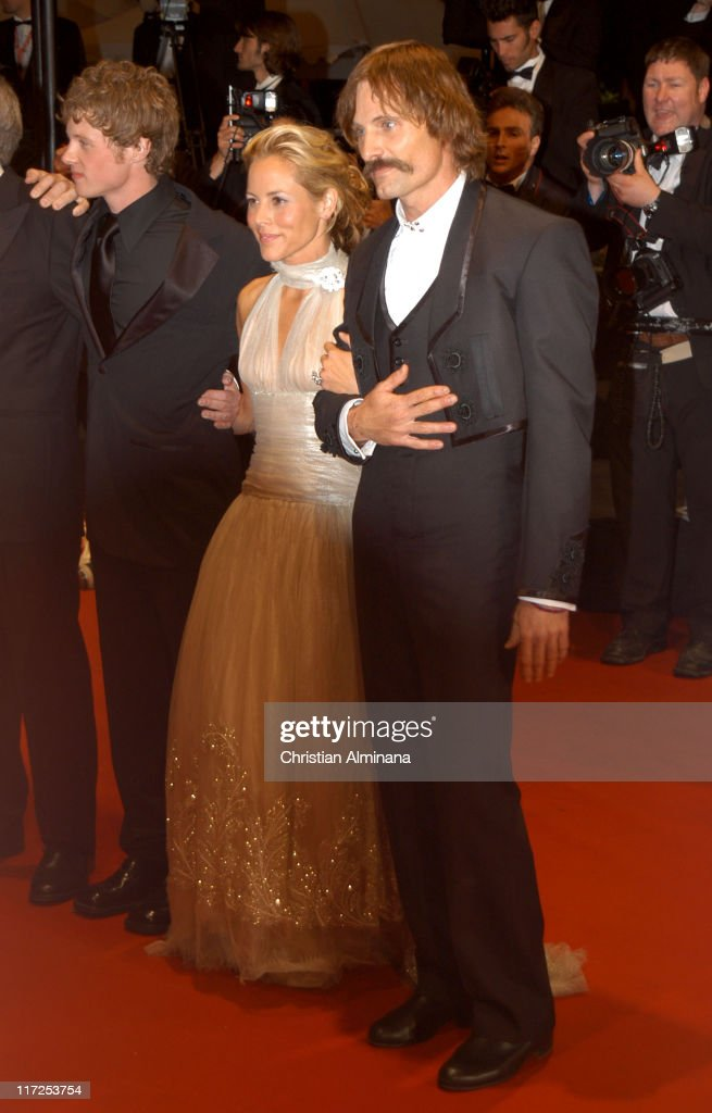 Ashton Holmes, Maria Bello and Viggo Mortensen during 2005 Cannes Film Festival - A History of Violence Premiere at Palais de Festival in Cannes, France.