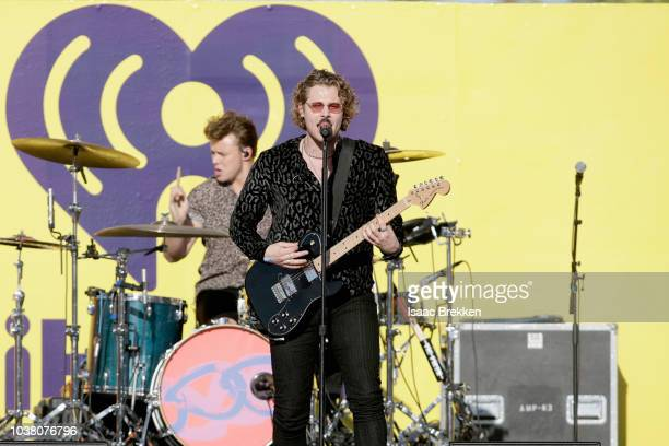 Ashton Irwin and Luke Hemmings of 5 Seconds of Summer perform onstage during the 2018 iHeartRadio Music Festival Daytime Stage at the Las Vegas...