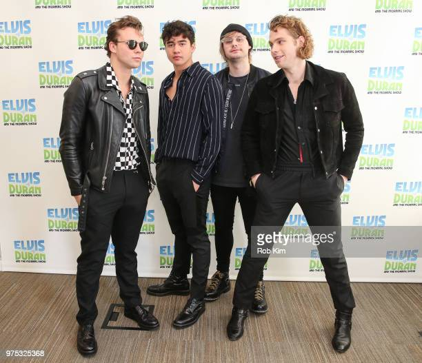 Ashton Irwin Calum Hood Michael Clifford and Luke Hemmings of 5 Seconds Of Summer visit 'The Elvis Duran Z100 Morning Show' at Z100 Studio on June 15...