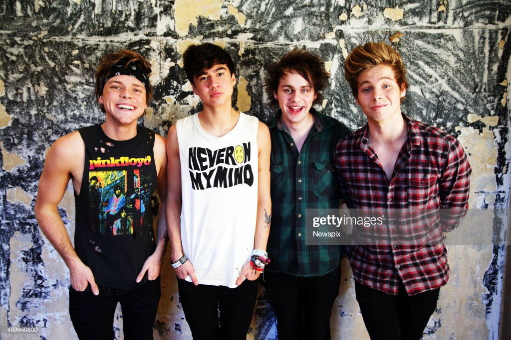 Boy band 5 seconds of summer photo shoot photos and images getty ashton irwin calum hood michael clifford and luke hemmings of australian boy band m4hsunfo